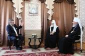 Святейший Патриарх Кирилл встретился с губернатором Брянской области А.В. Богомазом и митрополитом Брянским Александром