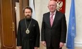 В Нью-Йорке состоялась встречапредседателя Отдела внешних церковных связей Московского Патриархата с постоянным представителем России при ООН