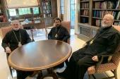 Митрополит Волоколамский Иларион встретился с главами Константинопольской и Антиохийской Архиепископий Северной Америки