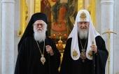 Поздравление Святейшего Патриарха Кирилла Предстоятелю Албанской Православной Церкви с 90-летием со дня рождения