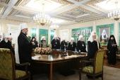 Святейший Патриарх Кирилл возглавил очередное заседание Священного Синода Русской Православной Церкви