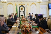 His Holiness Patriarch Kirill meets with President of Cuba Miguel Mario Diaz-Canel Bermúdes