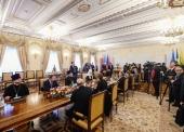 Συνάντηση του Αγιωτάτου Πατριάρχη Κυρίλλου με τον Πρόεδρο της Κούβας Miguel Mario Díaz-Canel Bermúdez