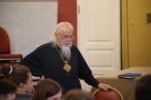 Председатель Синодального отдела по церковной благотворительности встретился со студентами ПСТГУ