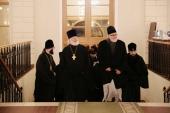 Делегация Архиепископии западноевропейских приходов посетила Московский епархиальный дом — место проведения Поместного Cобора 1917-1918 гг.