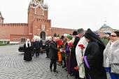 В День народного единства Президент России и Предстоятель Русской Церкви возложили цветы к памятнику Кузьме Минину и Дмитрию Пожарскому на Красной площади