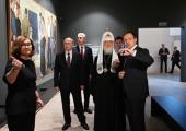 Президент России В.В. Путин и Святейший Патриарх Кирилл посетили выставку «Память поколений» в Москве