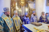 Hierarchs and clerics of six Local Orthodox Churches celebrate on dedication day at the church of 'Joy of All Who Sorrow' icon of the Mother of God in Moscow