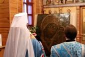 В Казанский Чимеевский монастырь Курганской епархии возвращена обновленная икона Божией Матери