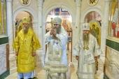 В Дивеевском монастыре состоялось освящение придела Благовещенского собора
