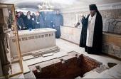 В Троице-Сергиевой лавре захоронили останки духовника обители схиархимандрита Захарии