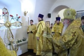 В Соликамске освящен новый купольный крест для старинной колокольни Преображенского кафедрального собора