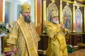 Патриарший экзарх всея Беларуси совершил Литургию в Борисоглебском храме г. Новогрудка