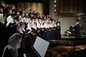 Концертный хор регентского факультета МДА выступил в Российской академии музыки имени Гнесиных