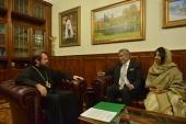Митрополит Волоколамский Иларион провел встречу с послом Шри-Ланки в России