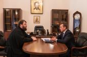Președintele Direcției financiar-economice a Patriarhiei Moscovei s-a întîlnit cu șeful Direcției de Nord-Vest pentru construcții a Ministerului Culturii