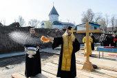 Состоялась закладка паломнического центра Иверско-Серафимовского монастыря Алма-Аты
