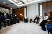 Primate of Russian Orthodox Church meets with President of Azerbaijan Ilham Aliyev