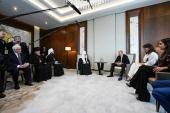 Состоялась встреча Предстоятеля Русской Православной Церкви с Президентом Азербайджана Ильхамом Алиевым