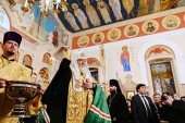 His Holiness Patriarch Kirill performs Lesser Consecration of the Cathedral of the Holy Myrrhbearing Women in Baku