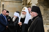 His Holiness Patriarch Kirill celebrates prayer service at the site of St. Bartholomew's martyrdom