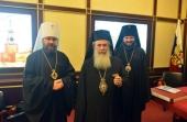Завершился визит Блаженнейшего Патриарха Иерусалимского Феофила III в Русскую Православную Церковь