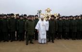 Состоялось освящение накупольных крестов главного храма Вооруженных сил России