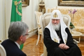 His Holiness Patriarch Kirill meets with Ambassador of Kingdom of Denmark to Russian Federation
