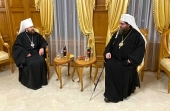 Metropolitan Hilarion of Volokolamsk meets with Primate of Orthodox Church of the Czech Lands and Slovakia