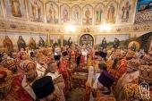 В Неделю 24-ю по Пятидесятнице Блаженнейший митрополит Онуфрий совершил Литургию во Введенском монастыре Киева