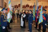 Председатель Синодального отдела по взаимодействию с Вооруженными силами освятил воинское знамя Военно-транспортной авиации РФ