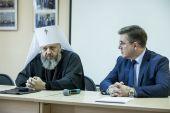 Глава Кузбасской митрополии встретился с ректором и студентами кафедры теологии КемГИК