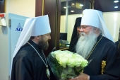 Primate of Orthodox Church in America arrives in Moscow