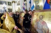 В Олександро-Невській лаврі відбулося освячення головних ікон морської піхоти ВМФ Росії