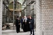 Святейший Патриарх Кирилл посетил строящийся храм равноапостольных Кирилла и Мефодия в Калининграде