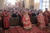 Митрополит Крутицкий Ювеналий совершил Литургию по случаю престольного праздника Екатерининского монастыря в Видном