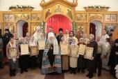 Митрополит Крутицкий Ювеналий совершил чин великого освящения Покровского храма в подмосковной деревне Еганово