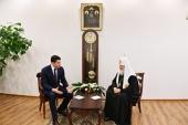 Святейший Патриарх Кирилл встретился с губернатором Калининградской области А.А. Алихановым