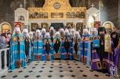 Блаженнейший митрополит Онуфрий совершил Литургию и возглавил епископскую хиротонию в Киево-Печерской лавре