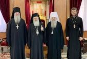 Состоялась встреча Блаженнейшего Патриарха Иерусалимского Феофила c митрополитом Санкт-Петербургским и Ладожским Варсонофием