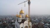 Митрополит Астанайский Александр освятил крест на центральный купол строящегося храма в честь Собора Пресвятой Богородицы в Алма-Ате