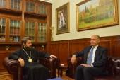 Председатель ОВЦС провел встречу с государственным министром по печати и информации Иордании