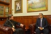 Митрополит Волоколамский Иларион встретился с послом Индии в России