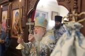 Патриарший наместник Московской епархии возглавил торжества по случаю престольного праздника и 260-летия Знаменского храма в подмосковной деревне Марьино