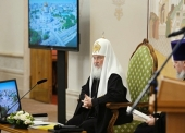 Выступление Святейшего Патриарха Кирилла на встрече с молодыми реставраторами и волонтерами, восстанавливающими храмы
