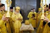 Предстоятель Русской Церкви совершил великое освящение храма благоверного князя Андрея Боголюбского на Волжском г. Москвы