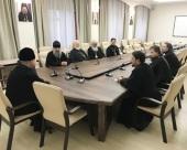 Состоялась встреча управляющего делами Московской Патриархии с представителями администрации высших духовных учебных заведений Московского региона и Санкт-Петербурга