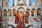 Предстоятель Украинской Православной Церкви совершил Литургию в храме вмц. Варавары г. Киева и возглавил хиротонию архимандрита Никодима (Пустовгара) во епископа Любечского