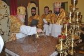 Патриарший экзарх всея Беларуси освятил храм в честь Рождества Иоанна Предтечи в агрогородке Буйничи