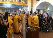 Патриарший экзарх Юго-Восточной Азии возглавил празднование десятилетия великого освящения храма Всех святых в Паттайе